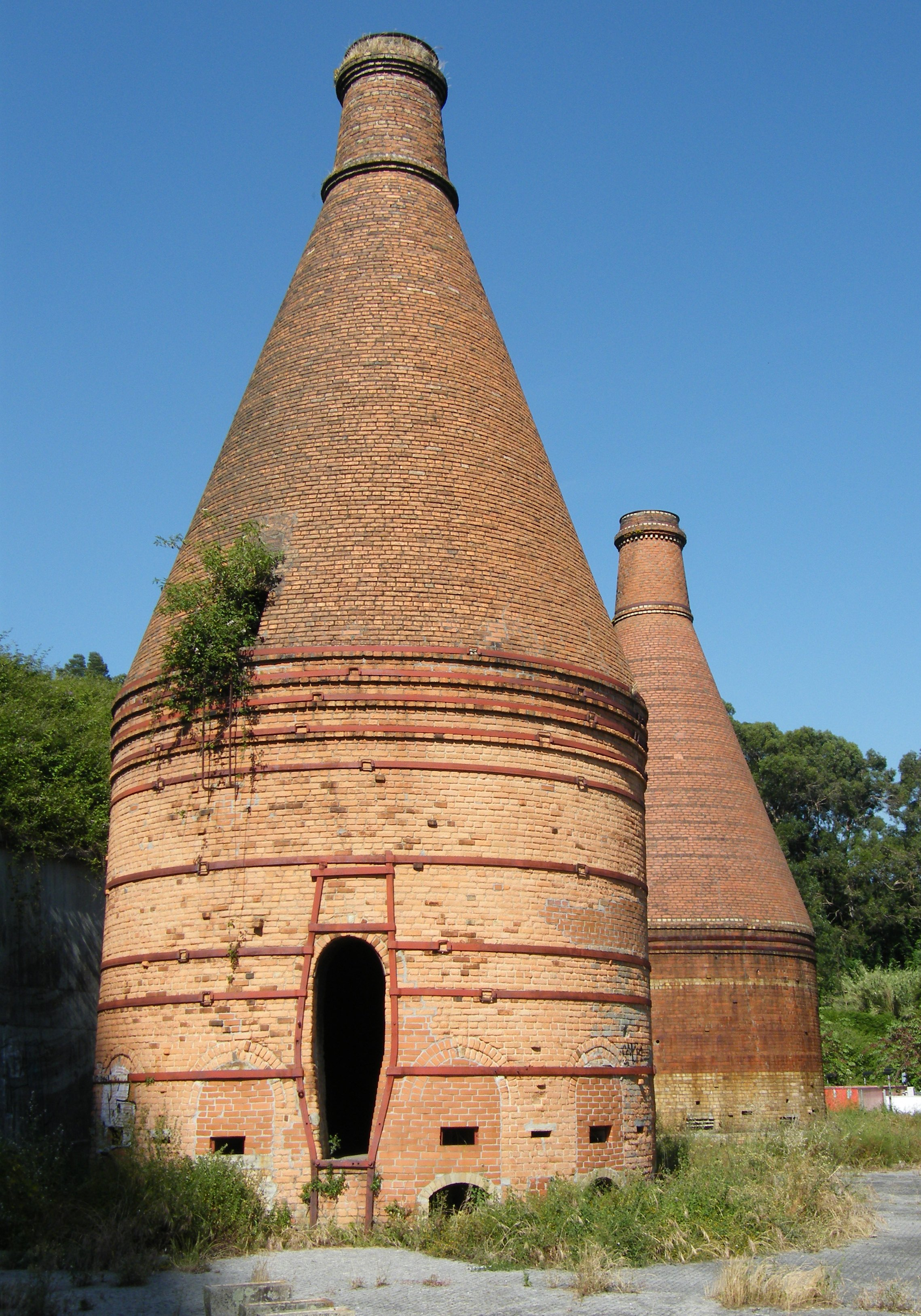 Bottle kilns of the former Massarelos tile factory in Porto