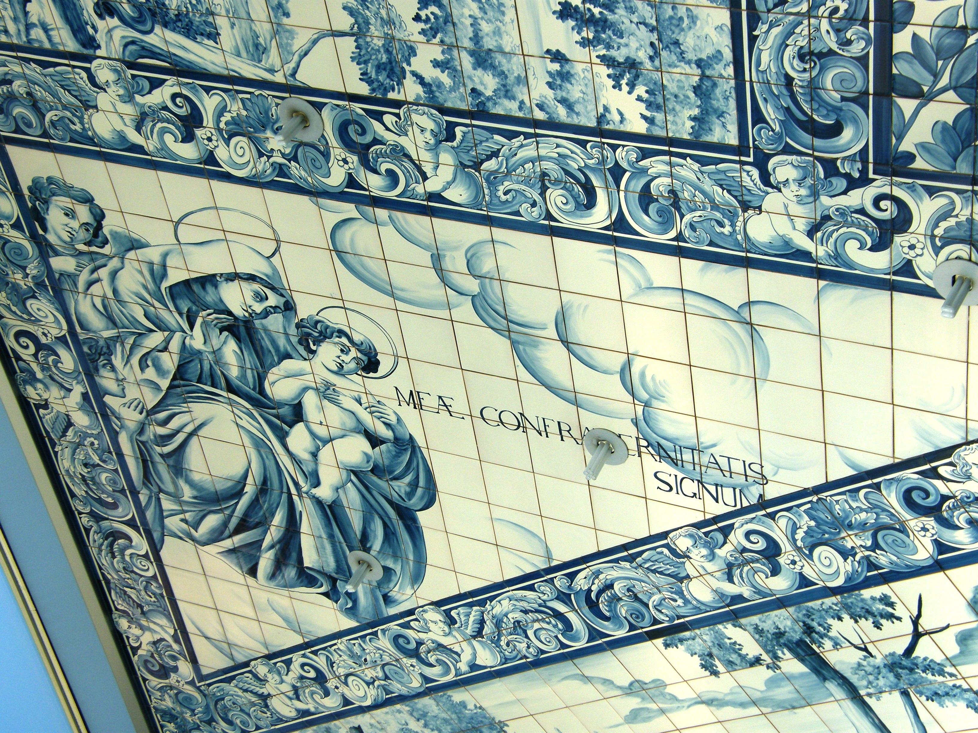 Detail of ceiling tiles in the new Casa da Musica in Porto built in 2008