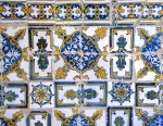 Detail of the tiled cloister  in  Pousad Sta Marinha in Guimaraes