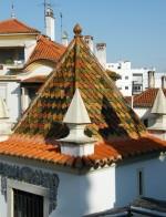Roof tiles near Igreja Antonio dos Olivais in Coimbra
