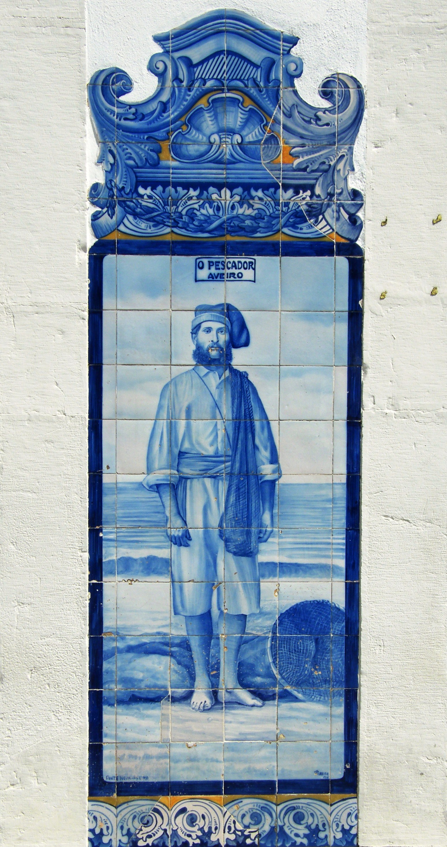 Tile panel at railway station at Aveiro