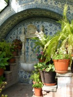 Tiled greenhouse in the garden of Casa Museu Bissaya Barreto in Coimbra