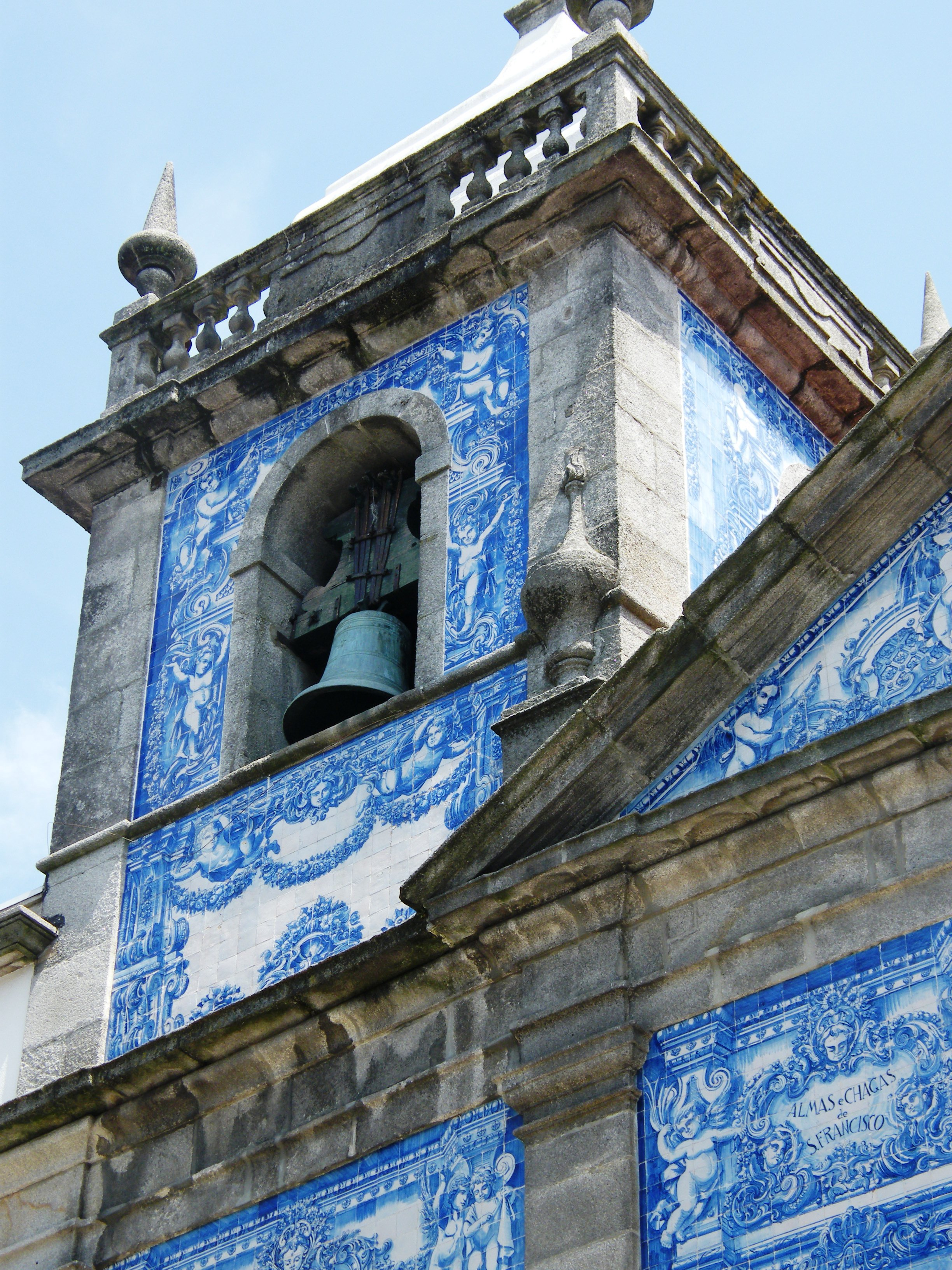 Tiled tower of the Chapel of Santa Catarina  in Porto