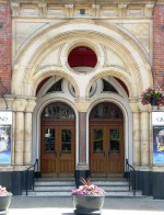 Entrance of the Grand Theatre, New Briggate, designed by George Corson in 1878