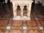 Encaustic tiles made by Godwin, c. 1875,  in Leeds Parish Church