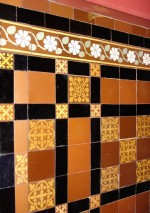 Tiles made by Whetstone, in the bar at the Grand Theatre, 1878