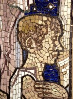 Detail of Frank Brangwyn mosaic at St. Aiden's church, Roundhay Road, 1909-16