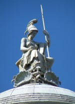 Statue of Britannia on Liverpool Town Hall, c. 1790
