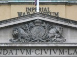 Royal Coat of Arms over entrance of Imperial War Museum London