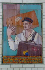 Tile panel on Haarlem Station, Holland, dated 1937