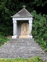Garden temple with statue of Surya at Sezincote, Gloucestershire, 1814