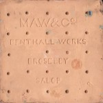 The reverse of a Maw encaustic  tile
