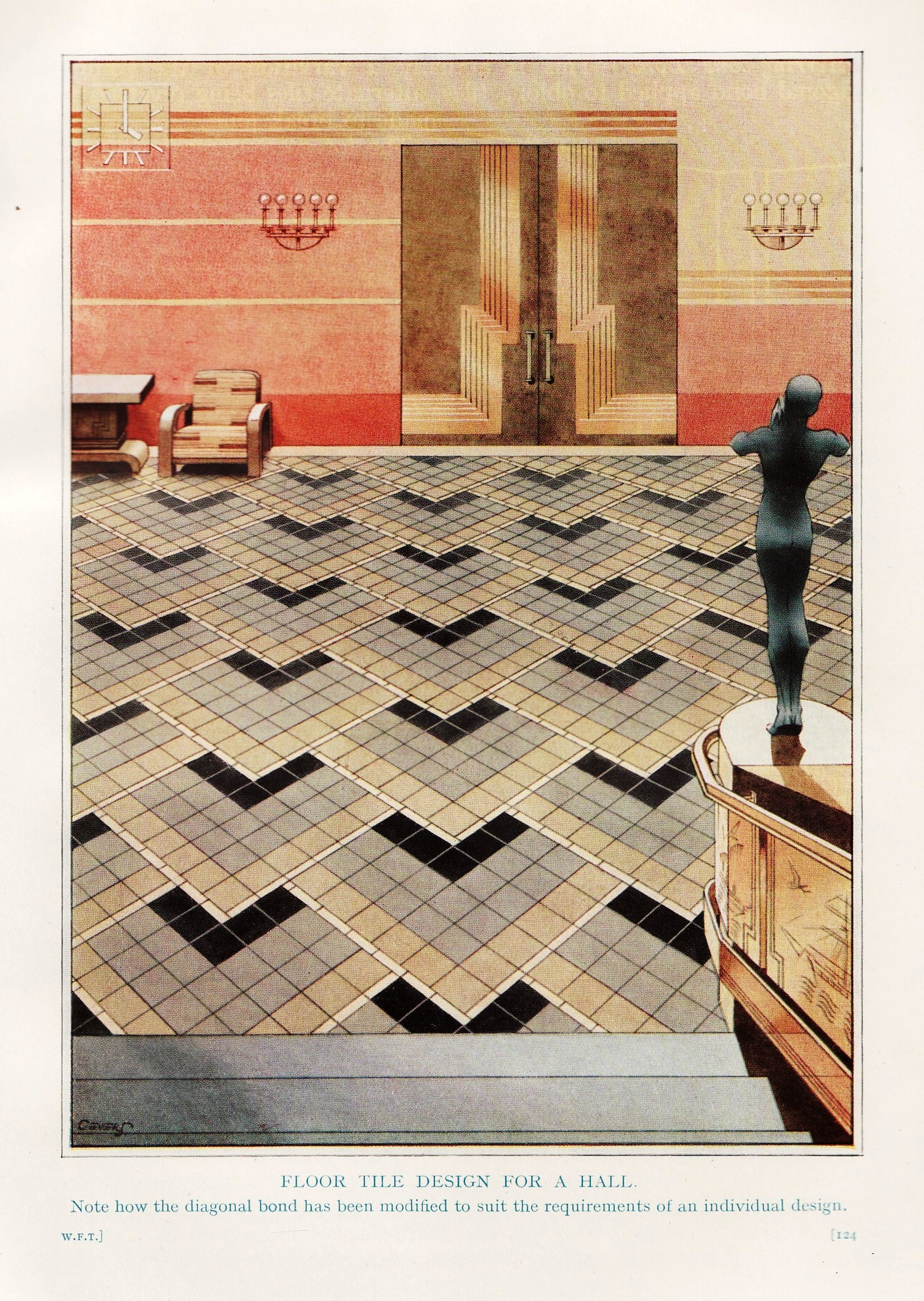 art tile designs. Design For Floor With Carter Art Deco Tiles 1937 Tile Designs O