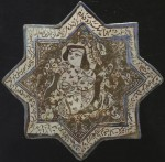 lustre tile, 13th century