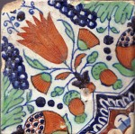 Dutch delftware tile, early 17th century