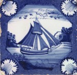 English delftware tile c. 1750