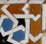 Mosaic tiles, 14th century.