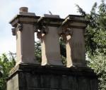 Square chimney pots with lion's heads on Wilshaw Villa, Wilshaw near Huddersfield, c. 1850