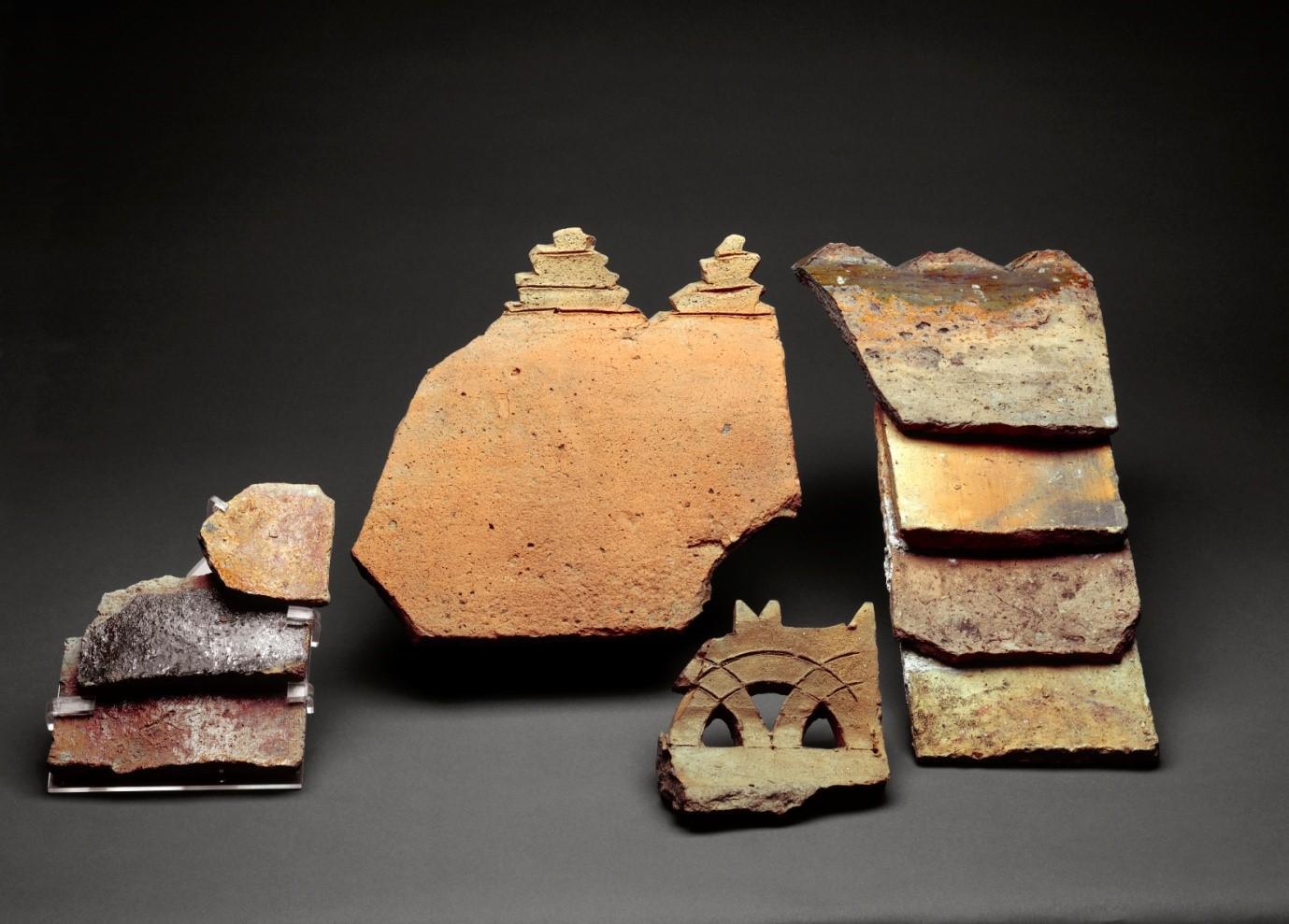 13th century British roof and ridge tiles