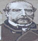 Tiled portrait of Miguel Nolla.