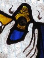 detail of the ring in the stained glass window
