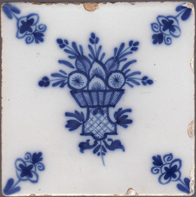 English delftware tile